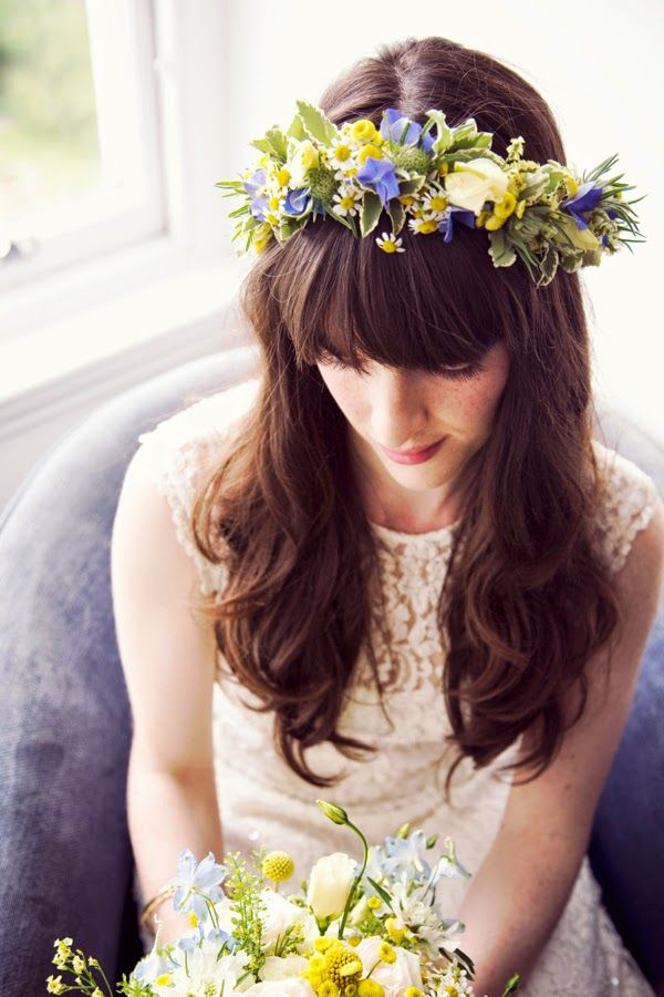 blue and yellow floral crown - Google Search
