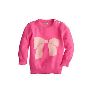 J.Crew Baby Bow Sweater. with little black leggings or jeans and little boots...so cute