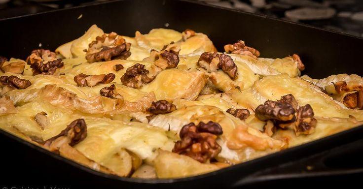 Witloof uit de oven met appeltjes, brie en tijm
