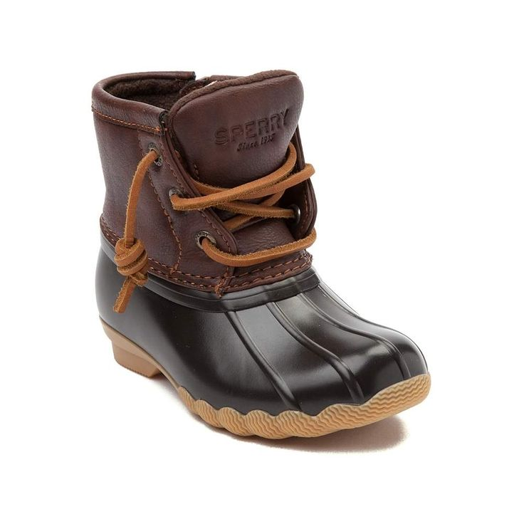Get her ready to take this season by storm with the new Saltwater Boot from Sperry Top-Sider! She'll be ready to splash and play with the Saltwater Boot, featuring a duck boot design with seam-sealed, waterproof construction, and soft fleece lining for comfort and warmth.