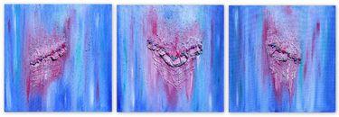 "Saatchi Art Artist Julia Apostolova; Painting, ""Indian Memories Triptych"" #art"