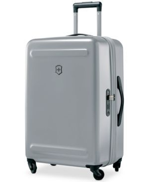 "Victorinox Swiss Army Etherius Metallic 26"" Expandable Hardside Spinner Suitcase - Silver"