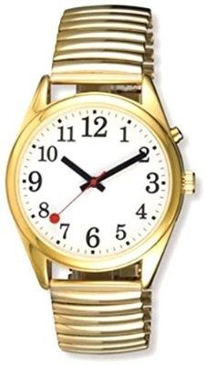 nice EXTRA LARGE FACE Talking Wrist Watch Gold Tone Great for Low Vision or Blind - For Sale Check more at http://shipperscentral.com/wp/product/extra-large-face-talking-wrist-watch-gold-tone-great-for-low-vision-or-blind-for-sale/