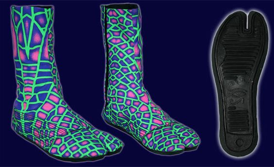 Ninja Boot  : Acid Dragonfly http://www.spacetribe.com/shop/accessories-footwear-c-158_287.html