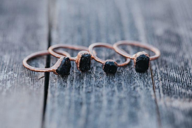 Black Tourmaline Rings