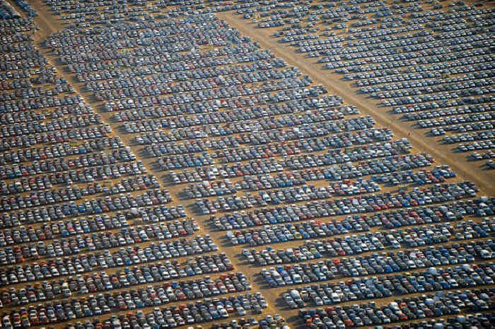 Where hundreds of thousands of the World's Unsold New Cars Go To Die   Un Fucking Believable!