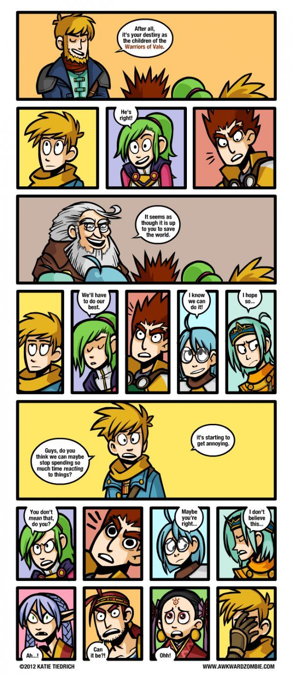 Golden Sun: Dark Dawn - This always frustrated me when I played the game, like get on with the plot people :|