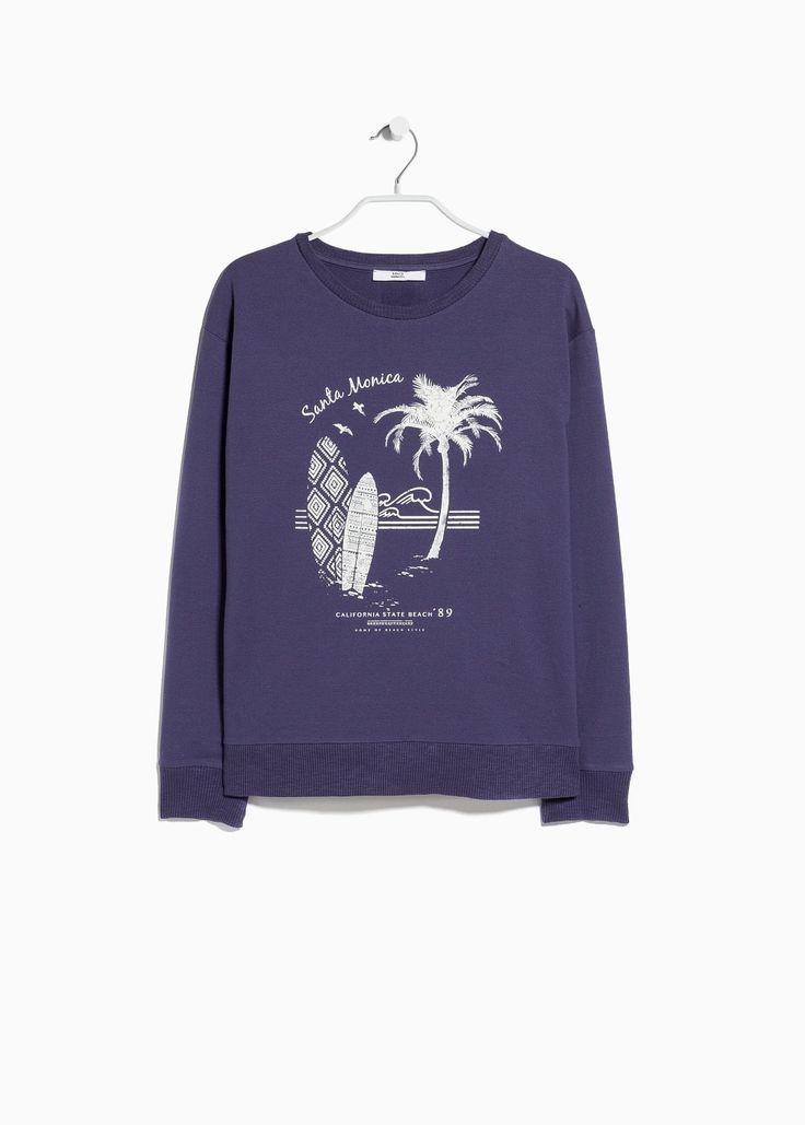 Sweatshirt mit Surf-Aufdruck