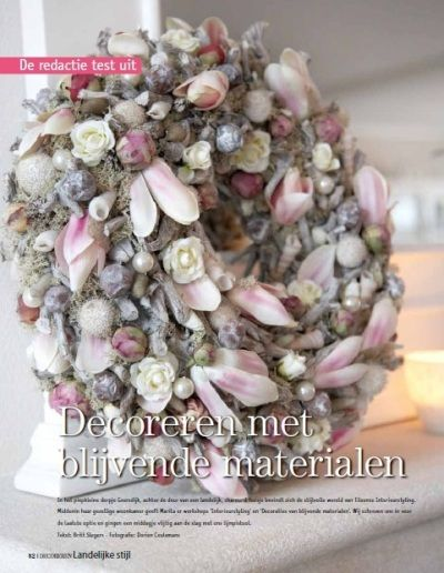 Wreath with silk flowers