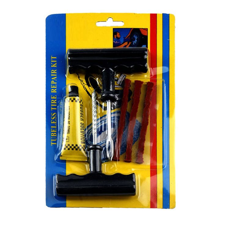 6Pcs/set Car Bike Auto Tubeless Tire Repair Kit Tyre Puncture Plug Repair Tool Kit Puncture Tubeless Tire Plug Repair Tool ** Click the VISIT button to view the details
