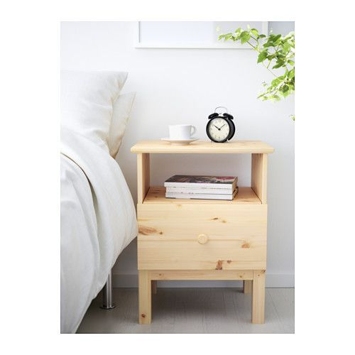 TARVA Nightstand, pine 18 7/8x24 3/8 - we could paint it for master bedroom nightstands