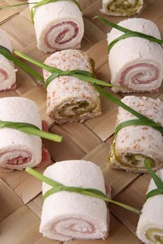 Canapés are served at nearly every fancy party, as the glorified sandwiches tend to be a popular favorite. Ham and cheese canapés are the most commonly served, as they are cheap, easy, and quick to make for your party. If you are looking for a simple, tasty appetizer to use for your elegant dinner party, you may want to consider the beautiful rolled canapé recipe below.
