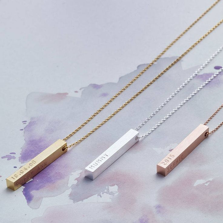 personalised bar necklace by lisa angel | notonthehighstreet.com