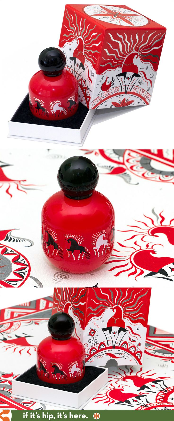 The Vagabond Prince's Land of Warriors perfume and packaging.