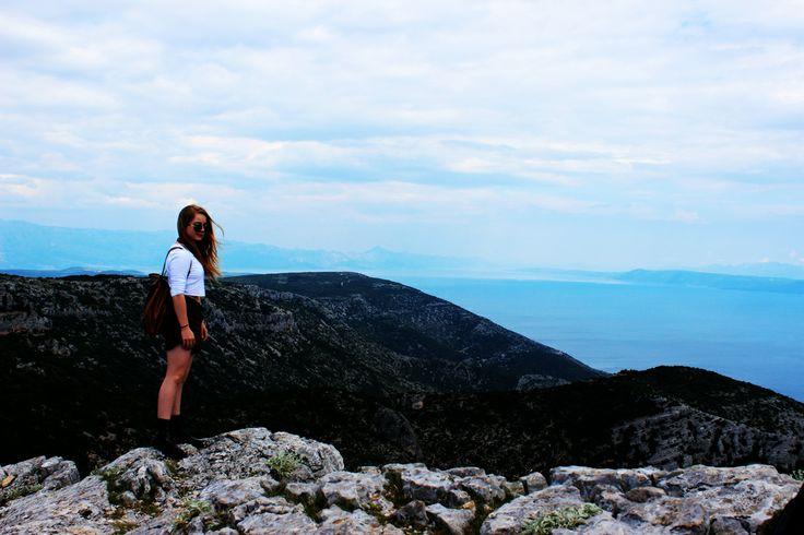 Island Bratc, Croatia. The highest place at Adrian sea.