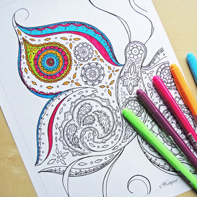 youll find 150 free printable coloring pages for adults that are not