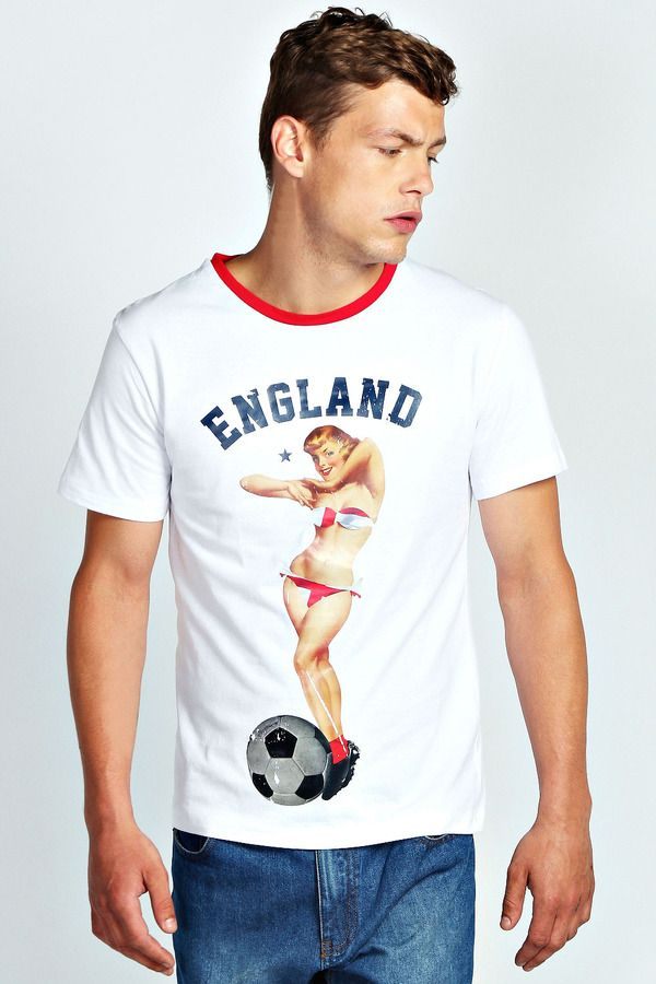 Boohoo Pin Up Girl England T Shirt on shopstyle.com