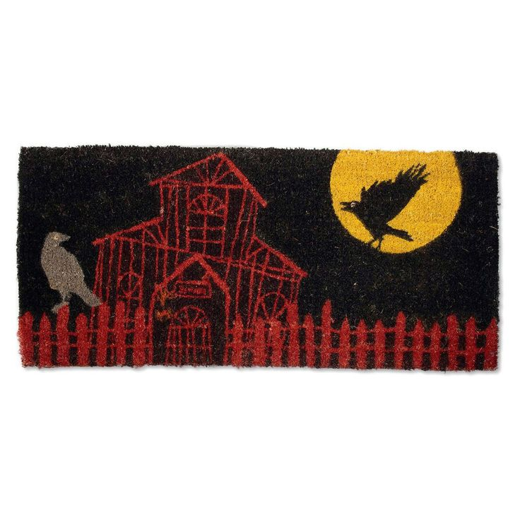Tag Haunted House Estate Coir Doormat | from hayneedle.com