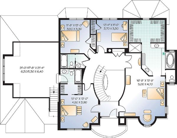 Captivating Victorian House Plan 65483