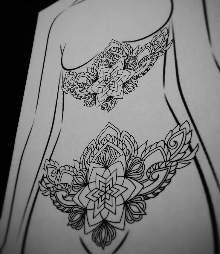 "amberjaneillustrations: ""I have this design available i want to tattoo, preferably on lower stomach or sternum, email thetattoosanctuary@gmail.com for bookings ✖ #blxckink #blackworker #blacktattooart..."