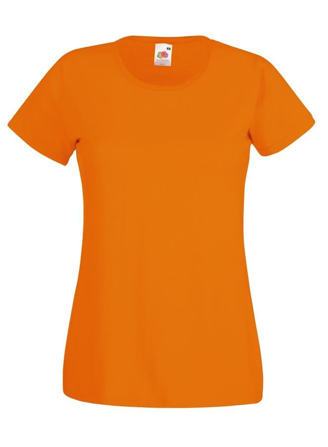 Fruit Of The Loom Plain Cotton Crew Neck Ladies Womans Short Sleeve T-Shirts Tee