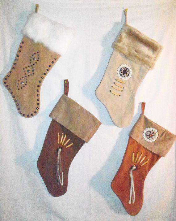 Handmade Christmas Stockings. Cute!
