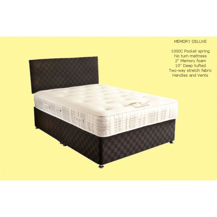 Premier Beds Memory Deluxe Pocket Sprung & Memory Foam 5ft Kingsize Mattress