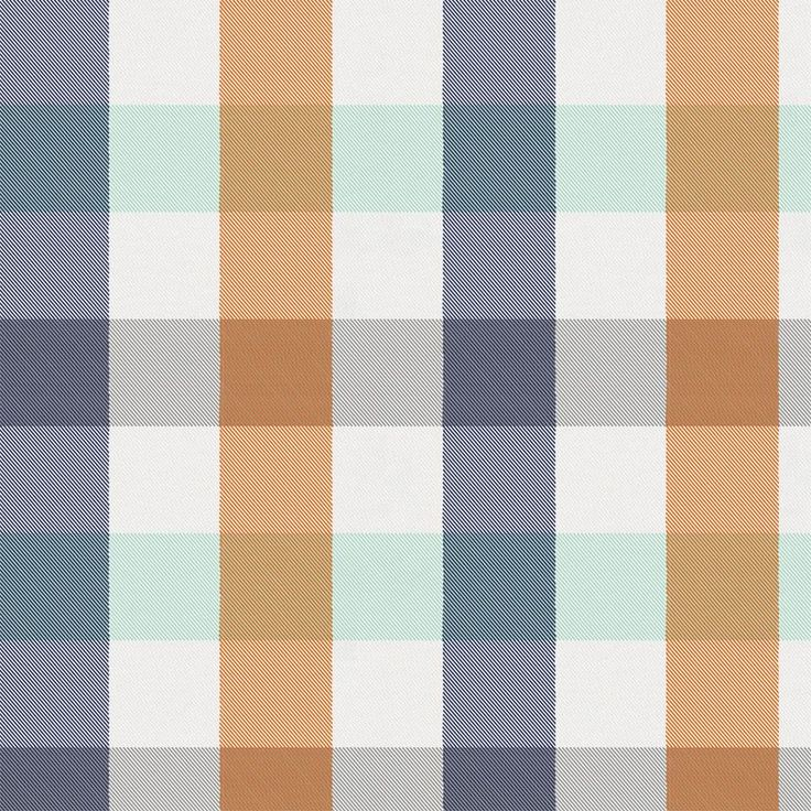 Navy and Orange Buffalo Check Fabric by Carousel Designs.