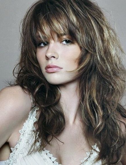 20 long layered haircuts with bangs. Trendy hairstyles for long hair. Ideas…