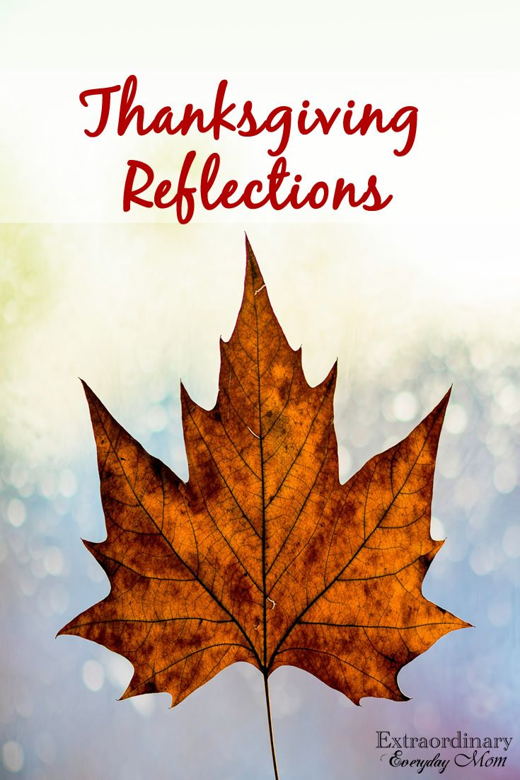 Today, I'm sharing my Thanksgiving Reflections. Are we truly thankful? Do we truly appreciate all the blessing we've been given?
