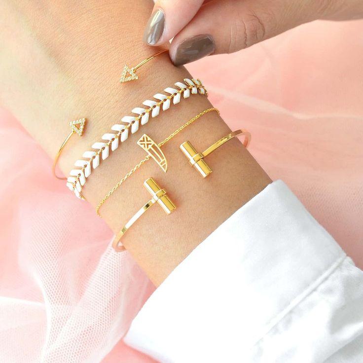 Juno Blanc Gold Bracelet – Majolie