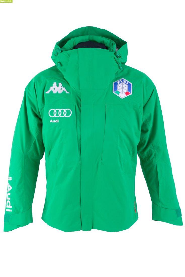 Kappa Men Italian Alpine Team FISI Jacket - Green Grey Silver