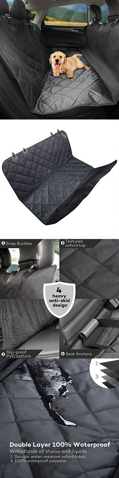 Car Seat Covers 117426: Dog Backseat Car Seat Suv Cover Waterproof Protector Travel Rear Pet Hammock Mat BUY IT NOW ONLY: $32.13