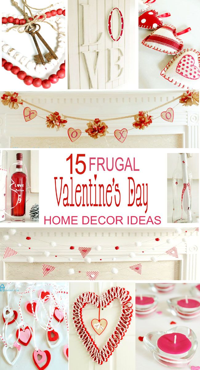 140 best valentines day ideas images on pinterest shop for Valentine decorations to make at home