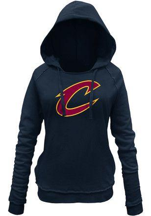 Cleveland Cavaliers Womens Navy Blue Glitter Hoodie