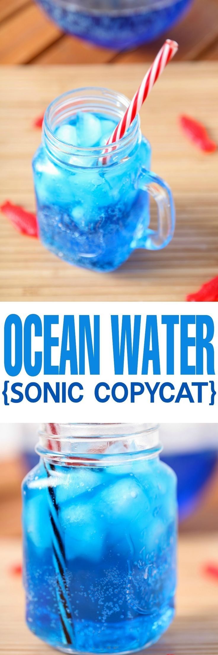 Copycat Sonic Ocean Water Recipe: The most gorgeous and refreshing summer drink around! The perfect non alcoholic drink for picnics or the Fourth of July. #totalbodytransformation