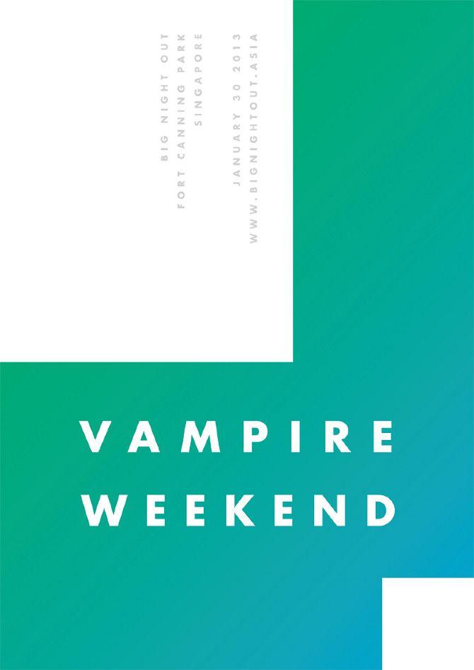 Vampire Weekend / James Kirkups #design #poster #minimal