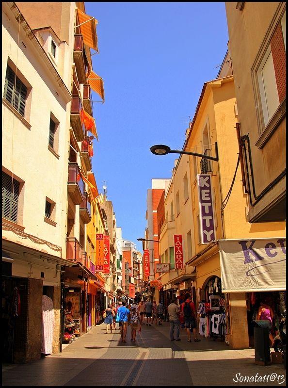 Narrow Street in Lloret de Mar, Girona, Spain Copyright: Barbara Stec