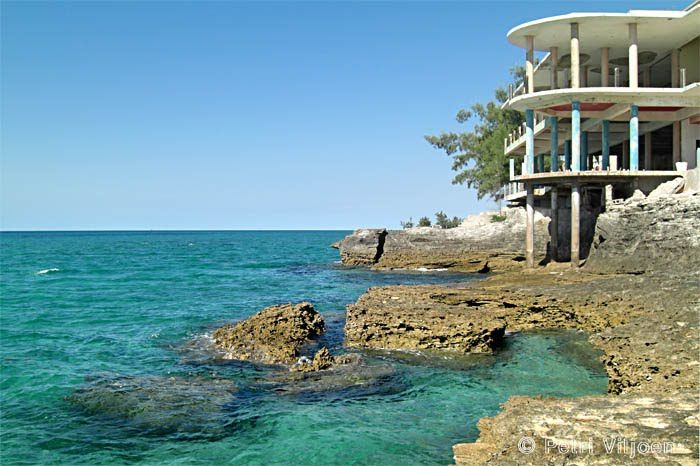 Abandoned resort on Santa Carolina Island (Paradise Island), Bazaruto Archipelago, Mozambique