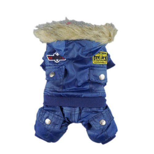 Stylish Air Man Pet Dog Coat for Winter Dog Clothes Thick Warm Jacket, Large - http://www.thepuppy.org/stylish-air-man-pet-dog-coat-for-winter-dog-clothes-thick-warm-jacket-large/