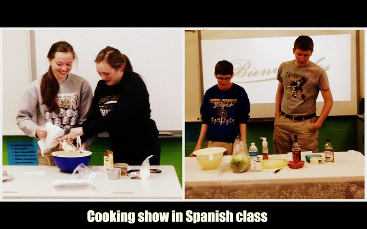 How to have a cooking show in Spanish class. - Project description included!