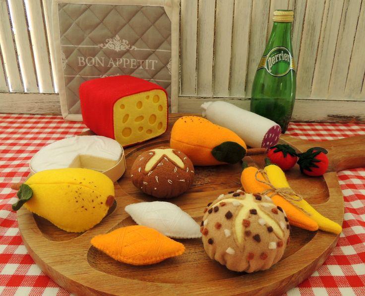 felt food plateau fromage-DECOCARIN