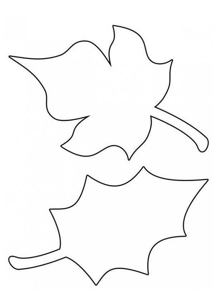 Best 25 leaf template printable ideas on pinterest leaf - Coloriage de feuilles d automne ...