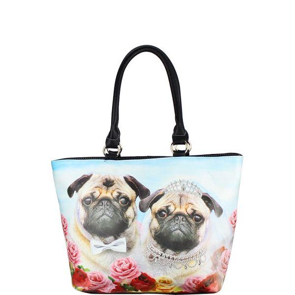 Large Dog Tote Bag Black - Wholesale Handbags Shop