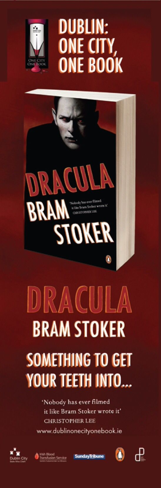 Dublin City Council's Lamppost Banners for One City, One Book 2009 -- 'Dracula', Bram Stoker #civicmedia2009