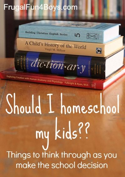 Making the decision to homeschool - things one family used to help choose