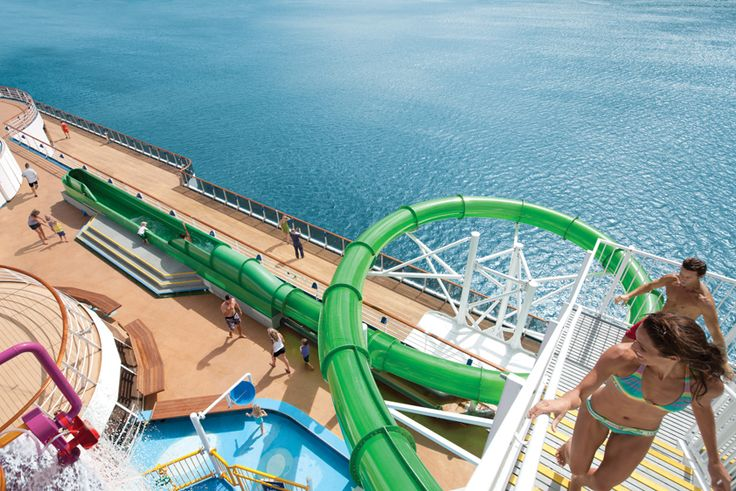 Carnival Spirit - Thunder from Down Under slide! Are you game? #cruising