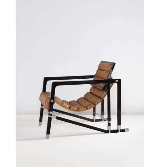 """EILEEN GRAY The Maharaja of Indore's """"Transat"""" chair, from Manik Bagh Palace, 1930"""