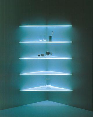 Lighting shelves, Shiro Kuramata