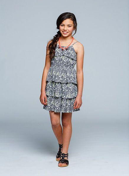Urban Angel Tiered Printed dress
